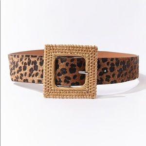 Leopard print Forever 21 belt